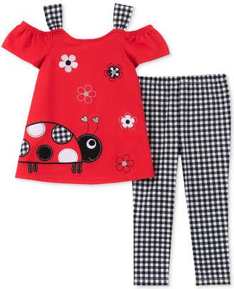 Kids Headquarters Little Girls 2-Pc. Ladybug Tunic & Printed Leggings Set