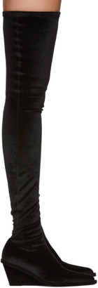 MM6 MAISON MARGIELA Black Wedge Tall Boots