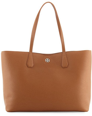 Tory Burch Perry Leather Tote Bag, Bark $395 thestylecure.com