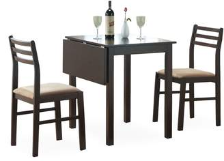 Monarch 3-Piece Solid-Top Drop Leaf Dining Set