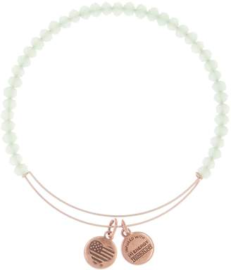 Alex and Ani Sweet Beaded Green Expandable Wire Bracelet