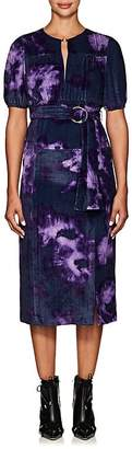 Altuzarra Women's Angelou Tie-Dyed Velvet Midi-Dress