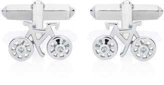 Lee Renee Bike Cufflinks Silver