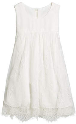 Helena Lace Empire-Waist Sleeveless Dress, Size 2-6
