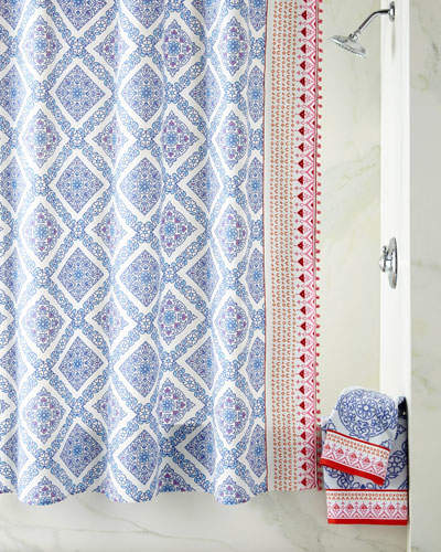 Mitta Periwinkle Shower Curtain
