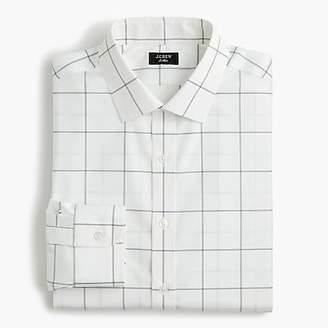 J.Crew Ludlow Slim-fit stretch two-ply easy-care cotton dress shirt in windowpane
