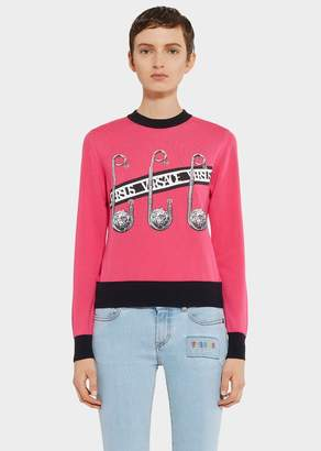 Versace Safety Pin Sweater