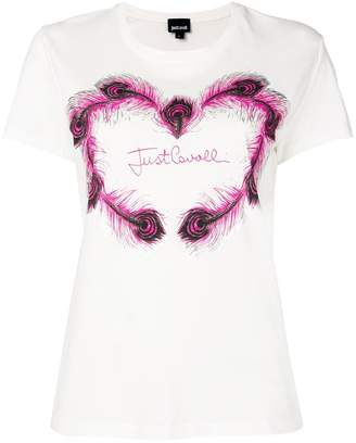 Just Cavalli logo patch T-shirt