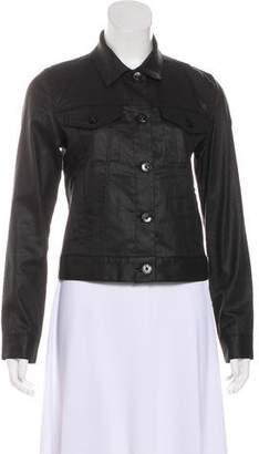 3x1 Coated Collar Jacket