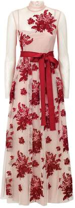 RED Valentino Floral Embroidered Tulle Dress