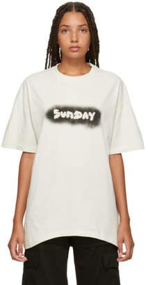 Vetements White Sunday Weekday T-Shirt