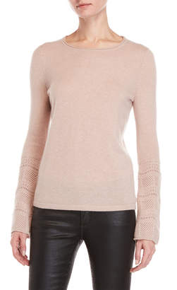 Sofia Cashmere Bell Sleeve Cashmere Sweater