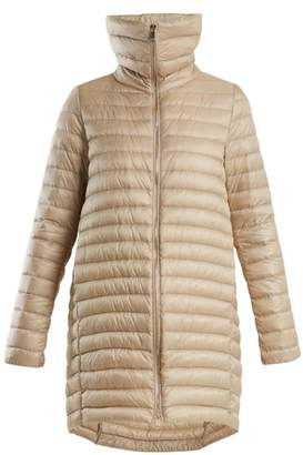 Moncler Citrinelle Funnel Neck Quilted Coat - Womens - Beige