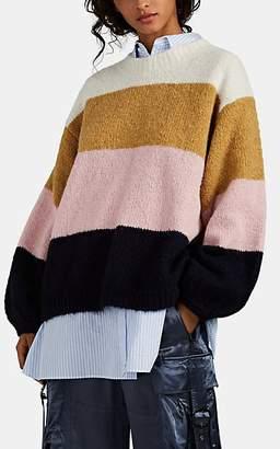 03cde3cef3b Acne Studios Women s Kazia Block-Striped Oversized Sweater - Pink
