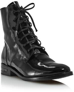 Freda Salvador Women's Patent-Leather Combat Boots