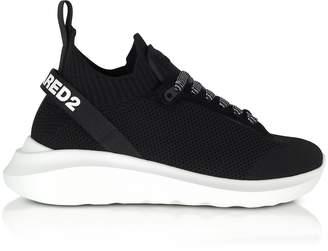 DSQUARED2 Black Neoprene, Nylon and Leather Men's Sneakers