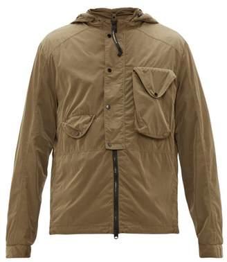 C.P. Company Goggle Hood Chrome Shell Jacket - Mens - Khaki