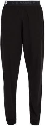 Y-3 Logo-print cotton-blend long john trousers