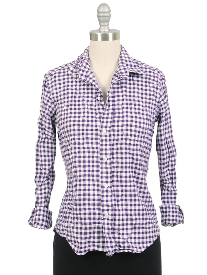 FRANK & EILEEN Barry Purple Checker Shirt
