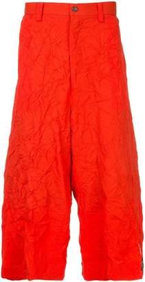 Facetasm x Woolmark crinkle-effect drop crotch trousers