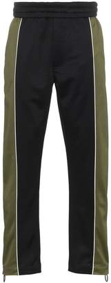 Off-White x Browns Green and black track pants