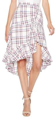 Parker Kylie Ruffle Linen & Cotton Skirt