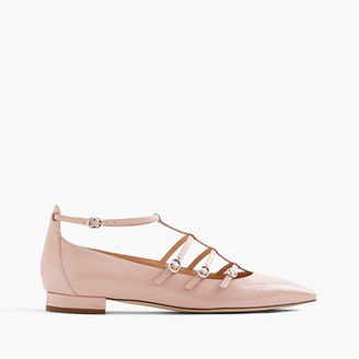 Caged flats in glossy leather $168 thestylecure.com