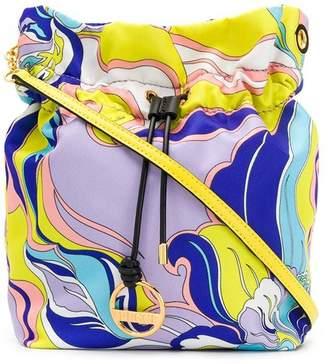 Emilio Pucci abstract print bucket bag