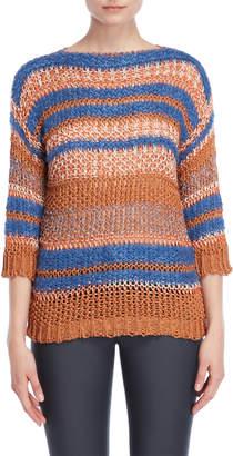 Roberto Collina Stripe Chunky Knit Sweater