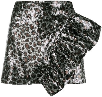 Laneus sequined mini skirt