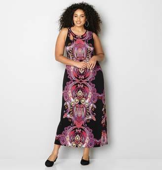 Avenue Cutout Medallion Maxi Dress