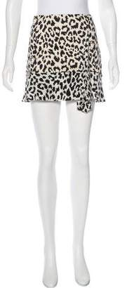 Thakoon Addition Leopard Print Mini Skirt