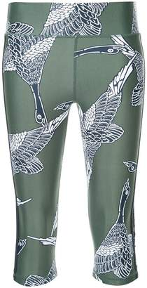 The Upside bird print cropped leggings