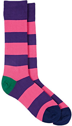 Paul Smith Men's Parton Block-Striped Mid-Calf Socks $30 thestylecure.com