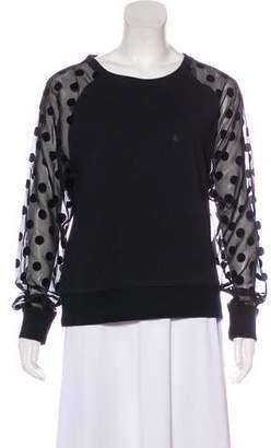 Miharayasuhiro Sheer Long Sleeve Sweatshirt