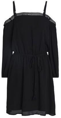 Rebecca Minkoff Paradise Cold-Shoulder Crochet-Trimmed Crepe Dress