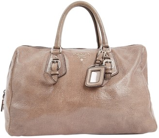 Prada Grey Leather Handbag