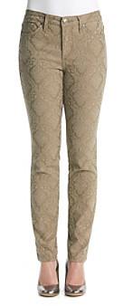 Nine West Vintage America Collection® Jacquard Damask Print Skinny Jeans