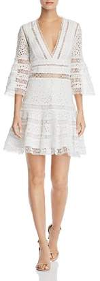 Aqua Bell-Sleeve Eyelet & Lace Dress - 100% Exclusive