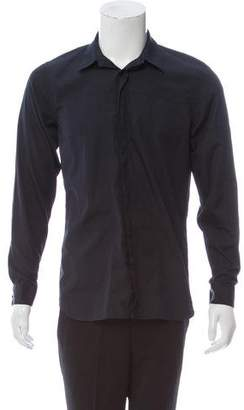 Calvin Klein Collection Tonal Stitched Button-Up Shirt