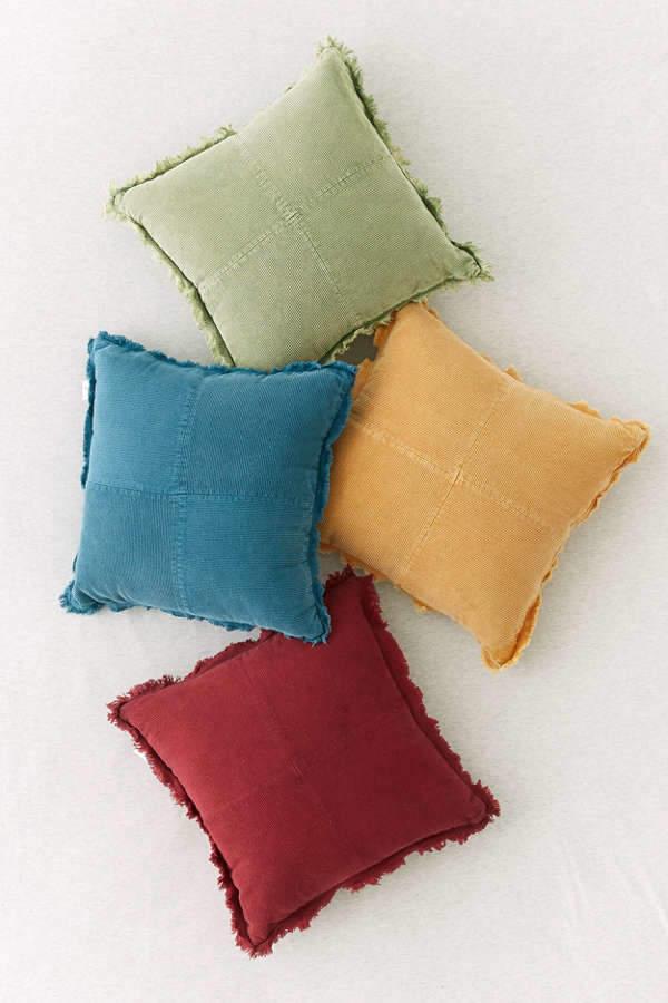 Pieced Corduroy Throw Pillow