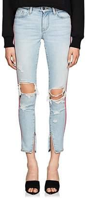 Amiri Women's Broken Track Skinny Jeans - Blue