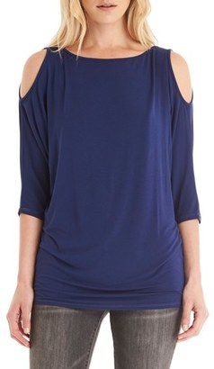 Petite Women's Michael Stars Cold Shoulder Tee $78 thestylecure.com
