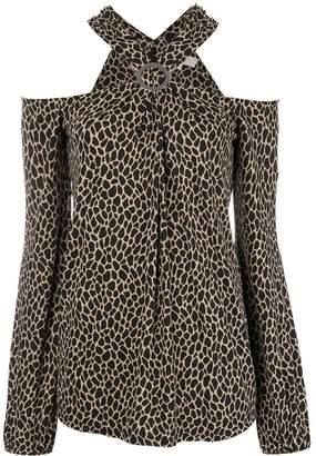 MICHAEL Michael Kors leopard print blouse