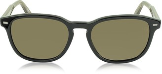 Ermenegildo Zegna EZ0005 01M Black & Brown Polarized Acetate Men's Sunglasses