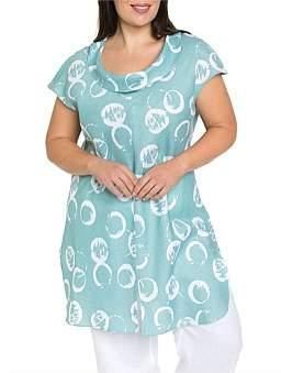 Yarra Trail Woman Short Sleeve Rings Print Overshirt