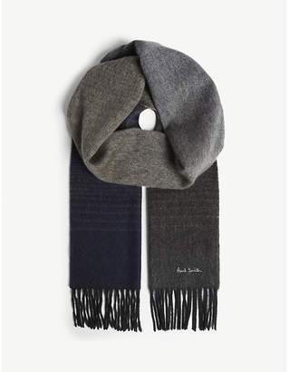 Paul Smith Ombre cashmere scarf