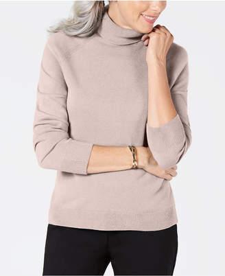 Karen Scott Petite Luxsoft Turtleneck Sweater