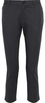 Y-3 + Adidas Cropped Appliquéd Stretch-Cotton Ponte Skinny Pants