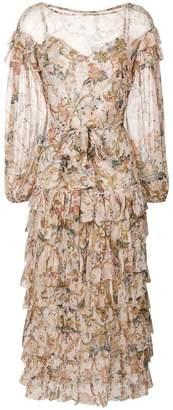Zimmermann floral frill dress